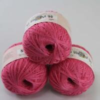 AIP Thread No.8 Cotton Crochet Yarn Craft Tatting Hand Knit Wholesale 50gX3 #03
