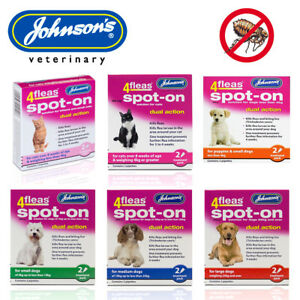 Johnsons 4fleas Spot-On Dual Action Flea Treatment for Cats Kittens Dogs Puppies