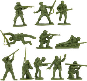 BMC WWII U.S. Marines - 11 in 11 poses - unpainted 54mm plastic toy soldiers