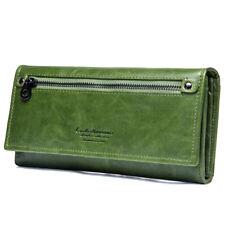 Genuine Leather Wallets For Women's Ladies Wallet Clutch Accordion RFID Blocking