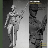 1/35 Resin Figure Model Kit WW2 German Sexy Woman Girl Soldier WWII Unpainted