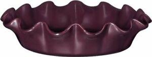 Emile Henry 1.3 Litre Urban Ruffled Pie Dish, Purple Figue Colour