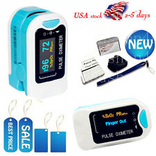 US Finger Tip Pulse Oximeter OLED SpO2 PR Blood Oxygen Saturation Monitor, Pouch