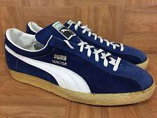 Vintage�� Puma Munster Eye Made In West Germany Leather Racer Blue 14 Yugoslavia