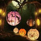 Vintage Halloween Festival Party Decor LED Pumpkin Spider DIY Paper Lantern Lamp