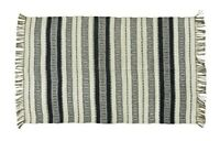 Black and White Striped Jute Rug by Madam Stoltz