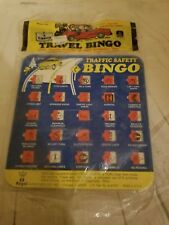 Vacation Game Travel Game Cards for the Car Traffic Bingo Regal Games Vintage
