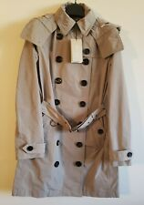 NWT BURBERRY Womens Balmoral Trench Jacket coat US 4 Small sisal Khaki