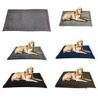 Large Soft Warm Dog Beds Washable Blanket Nest UK Pet Mat Kennel Puppy Cushion