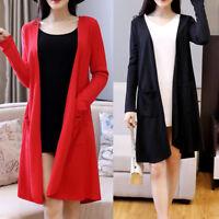 New Women Ladies Casual Coat Jacket Long Sleeve AU Size 10 12 14 16 18 20 #0869