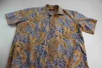 Island Traditions Made Hawaii Floral Pocket CAMP SHIRT Large Slim Fit l