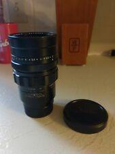 Black Leica Leitz Canada 90mm F2 Summicron Rangefinder M Mount Lens
