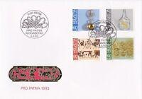 SW56) Switzerland 1993 Pro Patria - Folk Art FDC.