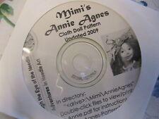 """MIMI'S ANNIE AGNES~Gloria """"Mimi"""" Winer RARE CD~cloth art doll pattern instructs"""
