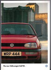 Volkswagen Golf SE Mk3 Limited Edition 1995-96 UK Market Sales Brochure