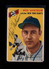 1954 TOPPS  #180 WES WESTRUM AUTHENTIC ON CARD AUTOGRAPH SIGNATURE AX1912