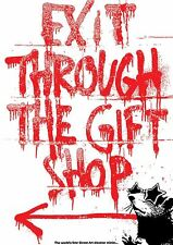 Exit Through the Gift Shop A2 film poster Banksy banksey rare limited amount