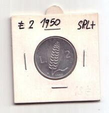Repubblica Italiana 2 lire 1950  Spiga  Italma   SPL+    (m841)