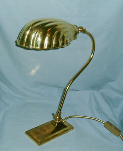 VINTAGE - CHRISTOPHER WRAY  ADJUSTABLE DESK / TABLE LAMP - WITH CLAM SHELL SHADE