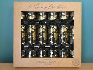 Gisela Graham Plastic Free Kingdom of the Bee Luxury Christmas Crackers Box Six