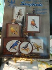 """Counted Cross Stitch """"The Bird Collection Songbirds"""" by Janet Powers  new/vtg"""