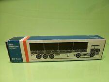 LION CAR 70 DAF TRUCKS 2800 + TRAILER - 1:50 GOOD * ONLY EMPTY BOX * (34)