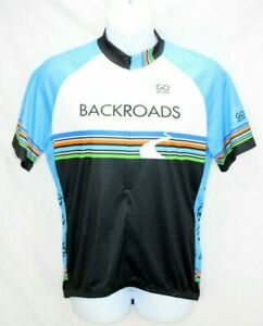 Louis Garneau Cycling Jersey Backroads Tours.Short Sleeve Women's XL Blue EUC