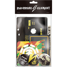 Element Skateboards X Bad Brains Merch Pack: Stickers, pins and patch