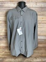 North End Long Sleeve Button Down Shirt Size Large Mens Gray Plaid New NWT Dress