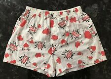 Vintage Joe Boxer Lover hearts Boxer Shorts Size Large 38-40 Made In Usa