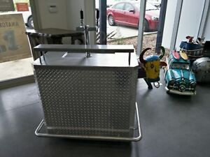 Stainless steel portable bar beer system double tap flooded font keg temprite