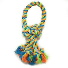 """Rope Toys For Dogs Mighty Bright Colored Loops 14 1/2"""" Long Rugged Chewing Knots"""