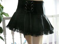 Black Corset Skirt Tutu Rock Gothic Festival Party Retro fun Steampunk Zombie UK