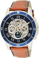 Fossil Men's Grant ME3140 Silver Stainless-Steel Hand Wind Dress Watch New