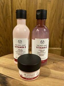 Body Shop Vitamin E Bundle - Cleanser 250ml, Toner 250ml & Day Cream 50ml