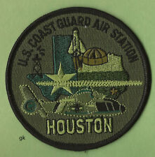 Us Coast Guard Houston Air Station Search Rescue Shoulder Patch Subdued Green