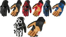Icon Mens Hypersport Leather Dual Sport Motorcycle Riding Street Racing Gloves