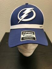 NEW NHL Fanatics Tampa Bay Lightning Authentic Trucker Hat Cap Blue White