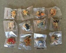 Mc Donald's Teenie Beanie Babie's Lapel Pin Set of 12, 1998 Group II NOS Nice
