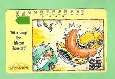 1992 ADVERTISING CARTOON $5 AUSTRALIAN  PHONECARD - SNAG, SECOND  PRINTING