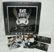 "B.A.P Mini Album Vol. 2 One Shot Taiwan Ltd CD+""5-trk"" DVD+52P+""6 cards"" (BAP)"