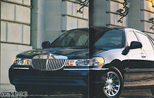 BIG 2000 LINCOLN TOWN CAR Brochure/Catalog with Color Chart:CARTIER,Signature
