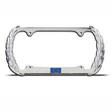 EUROPEAN UNION FLAG EUROPE Chrome Heavy Duty Metal License Plate Frame Tag