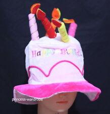 Happy Birthday Cake Candle Funny Hat Party Costume Pink