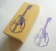 Musical Instrument Rubber Stamp - F Style Mandolin