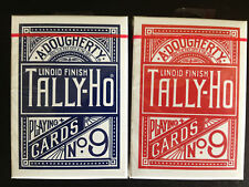 Tally-Ho Circle Back Bicycle playing cards Deck Red or Blue, new and sealed!