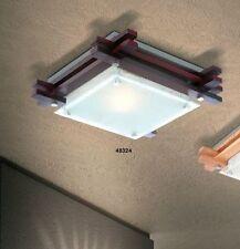 Lampada da soffitto Plafoniera design moderno Lampadario legno nero Nuovo 34038