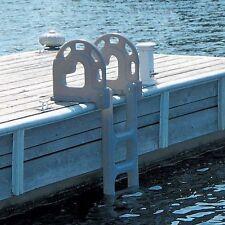 Dock Edge Roto-Molded Swing Up Flip Up 4-Step Dock Ladder Grey 2064-F