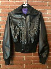 Faux Leather Turtleneck Jacket by Miley Cyrus Max Azria Medium