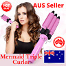 Mermaid 3 Barrel Hair Curler Curling Iron Ceramic Triple Waver Salon Styler DIY